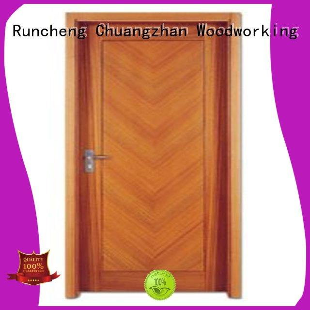 Runcheng Chuangzhan modern solid wood flush door manufacturer for hotels