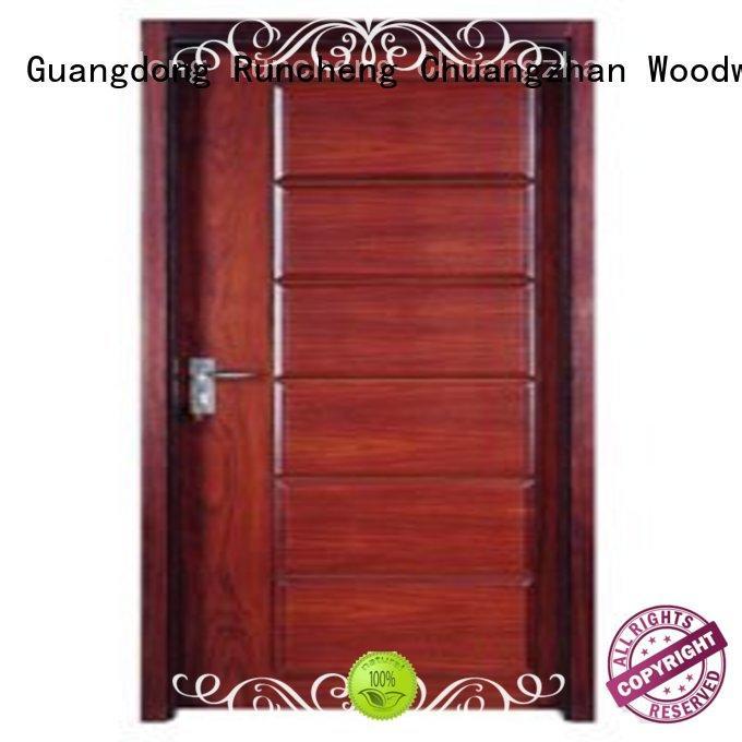 Runcheng Chuangzhan popular pine wood flush door manufacturer supplier for offices