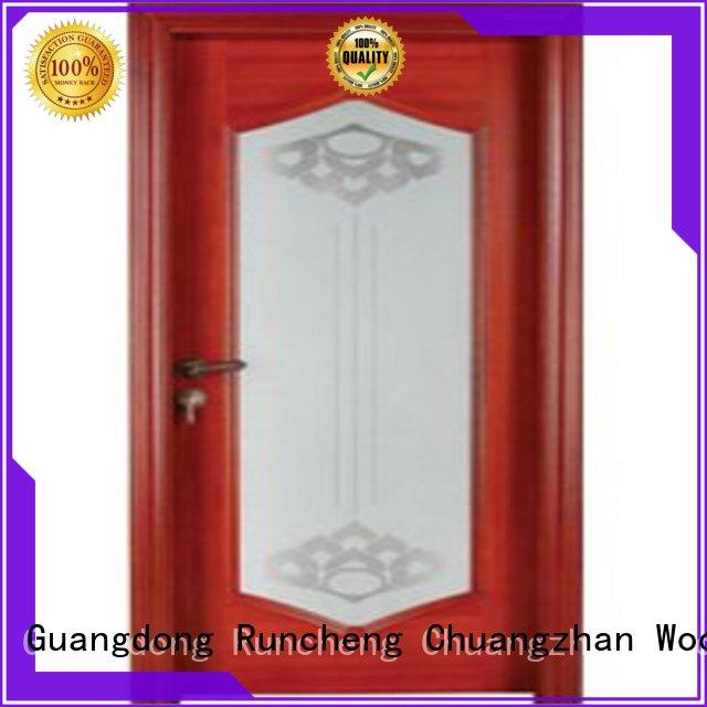 Runcheng Chuangzhan wood wooden glazed internal doors factory for homes