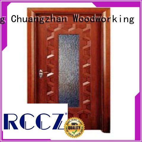 Runcheng Chuangzhan consummate wooden double glazed doors supplier for villas