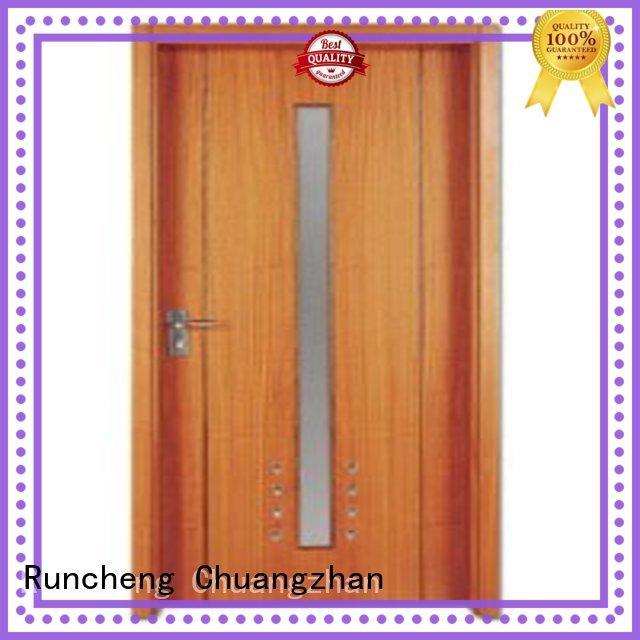 Runcheng Chuangzhan flush wood doors solid core design for hotels