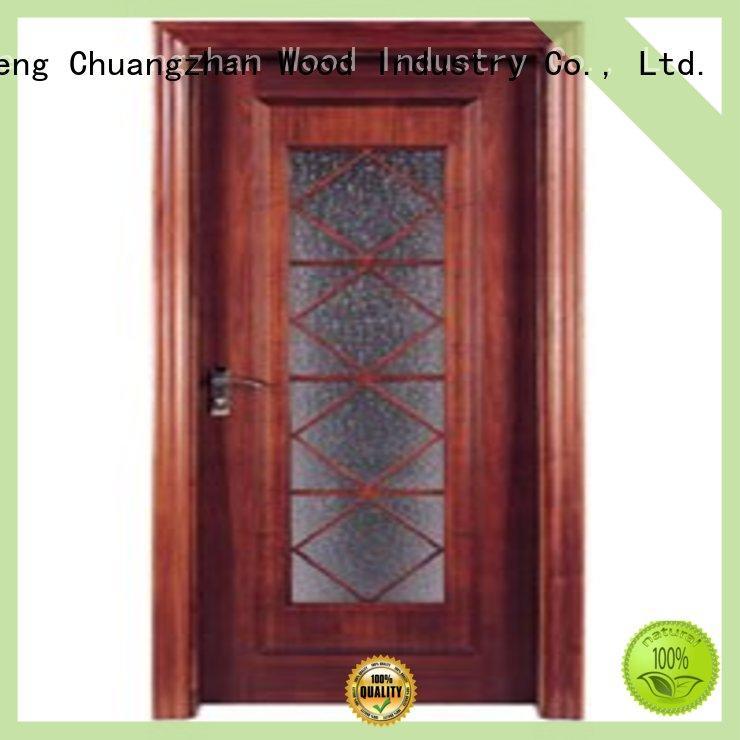 hardwood glazed internal doors door glazed wooden double glazed doors Runcheng Chuangzhan Brand