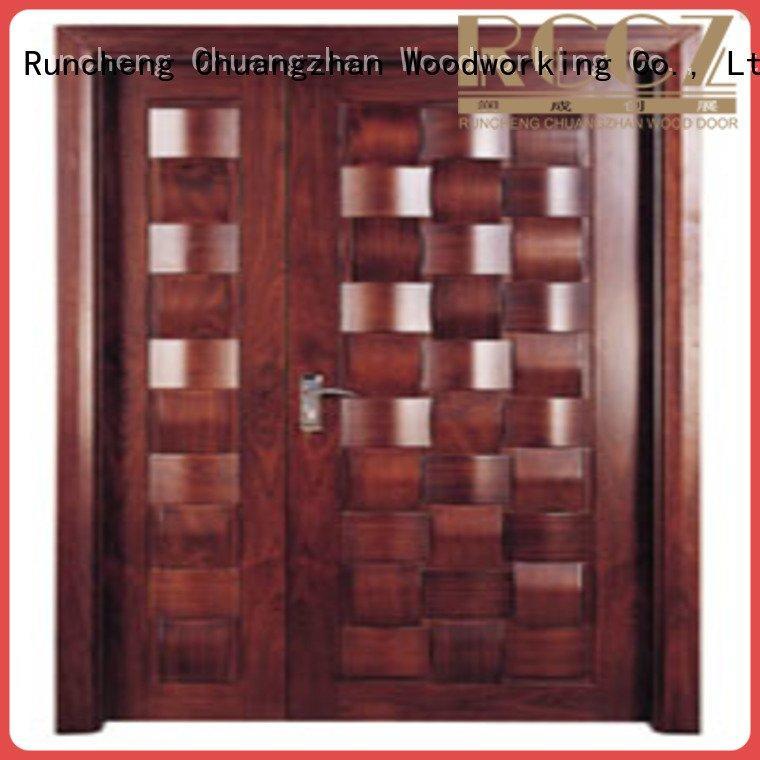 Runcheng Woodworking Brand l0081 x0111 door interior double doors double