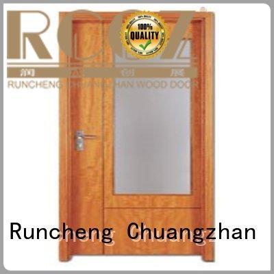 pine wood flush door manufacturer popular for indoor Runcheng Chuangzhan