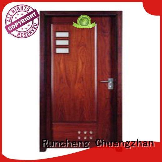 Runcheng Chuangzhan design solid wood flush door series for villas