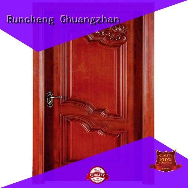 Runcheng Chuangzhan ODM interior wooden door with solid wood easy installation for villas