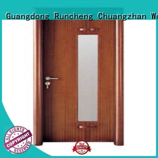 Runcheng Chuangzhan internal glazed double doors supplier for hotels
