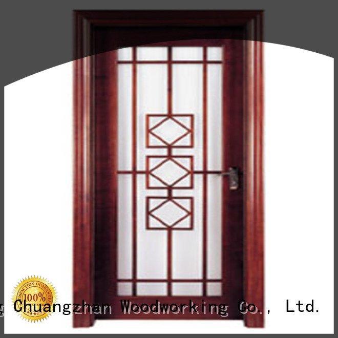 glazed door door door Runcheng Woodworking wooden double glazed doors