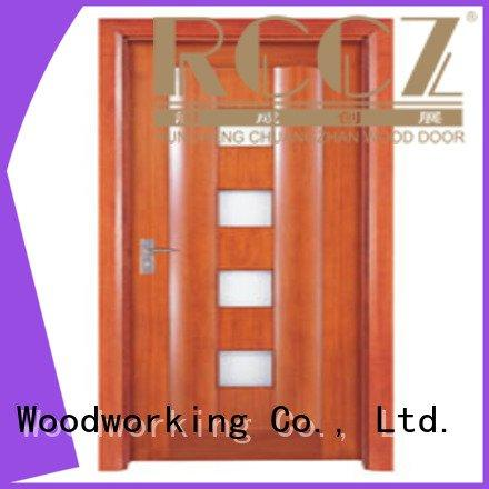 Runcheng Woodworking Brand x0214 wooden glazed front doors x0093 x0114