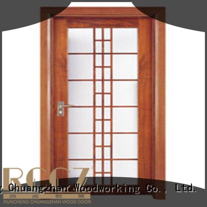 wooden glazed front doors x0214 wooden double glazed doors x0094 Runcheng Woodworking