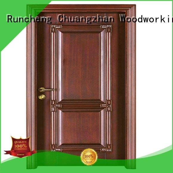 door wooden interior wooden door with solid wood Runcheng Woodworking Brand