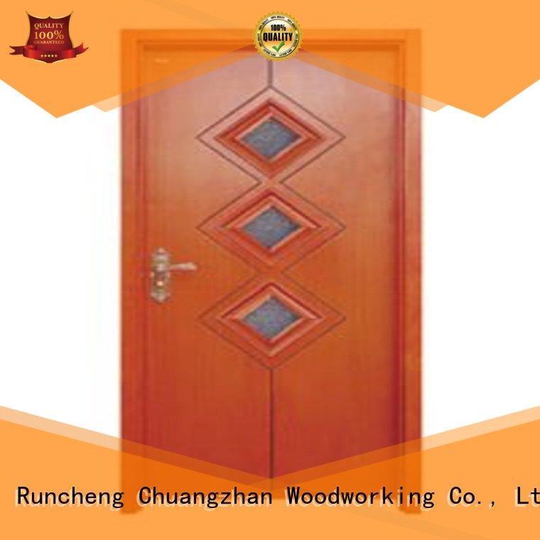 Runcheng Woodworking Brand glazed durable door hardwood glazed internal doors
