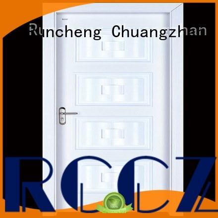 Runcheng Chuangzhan safe interior wooden door with solid wood supplier for indoor