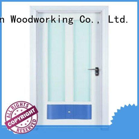 Runcheng Woodworking wooden glazed front doors glazed door door door