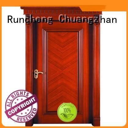 Runcheng Chuangzhan bedroom wood veneer door Supply for indoor