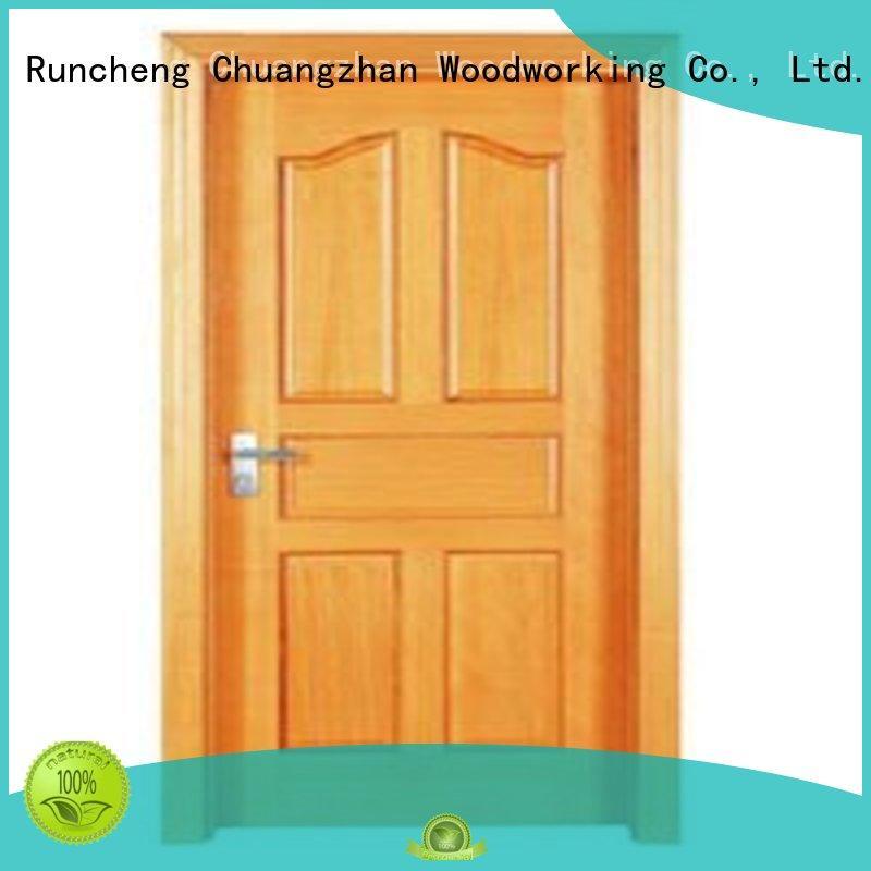 flush mdf interior wooden door durable flush Runcheng Woodworking Brand wooden flush door