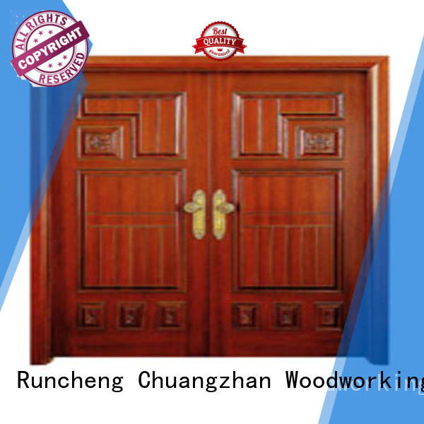 door double Runcheng Woodworking Brand white double doors factory