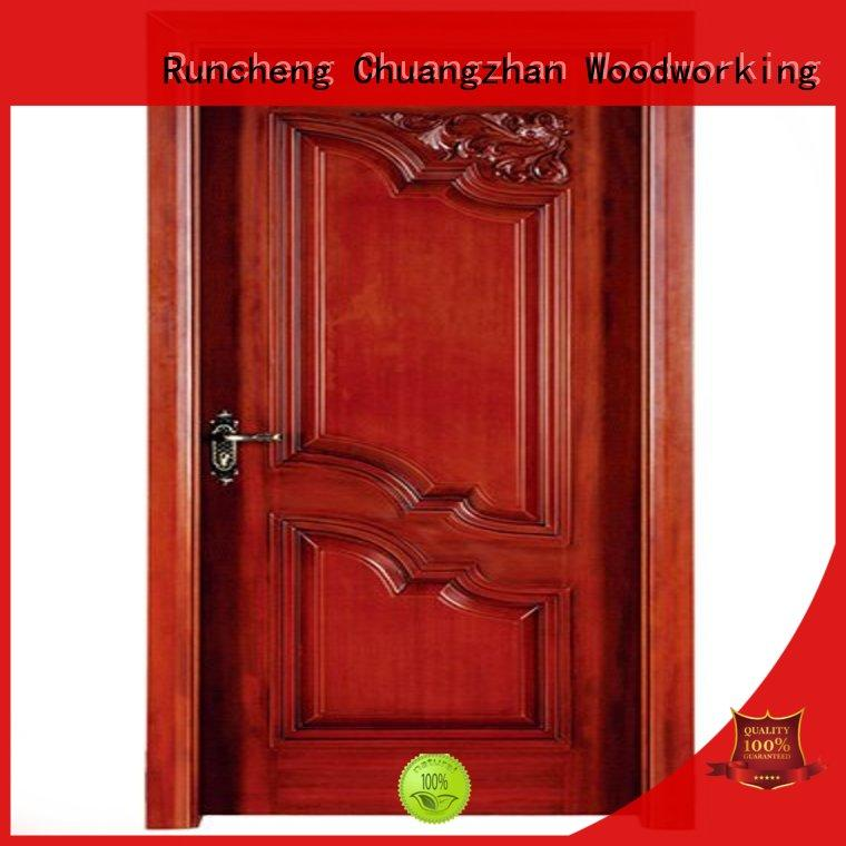 Runcheng Chuangzhan eco-friendly interior wooden door with solid wood easy installation for homes