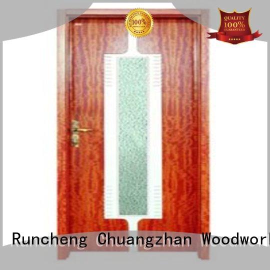 Hot hardwood glazed internal doors door Runcheng Woodworking Brand