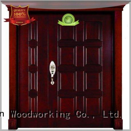 Hot wooden double doors double Runcheng Woodworking Brand