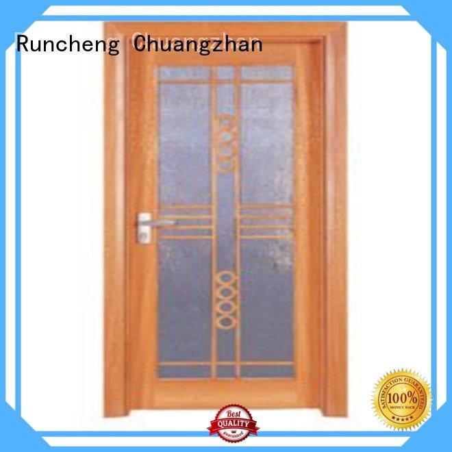 Runcheng Chuangzhan Brand door durable hardwood glazed internal doors