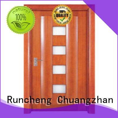 Hot wooden glazed front doors glazed wooden double glazed doors door Runcheng Woodworking
