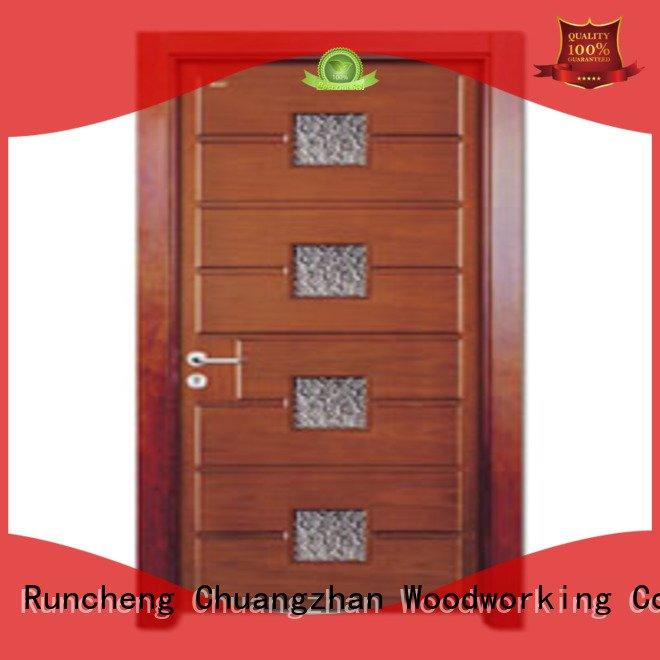 door glazed glazed glazed Runcheng Woodworking wooden double glazed doors