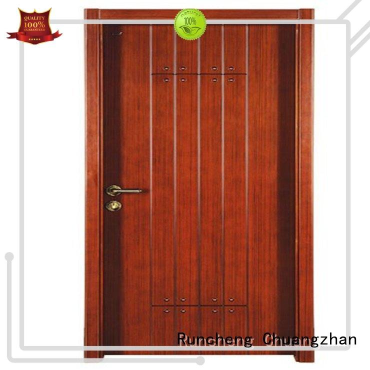 Runcheng Chuangzhan interior wooden door with solid wood for sale for indoor