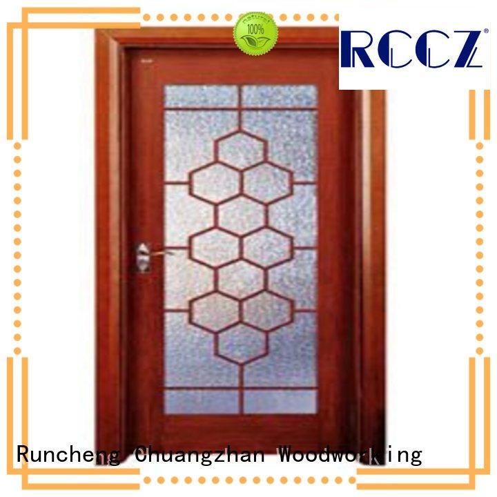 Runcheng Chuangzhan durability white glazed interior doors series for villas