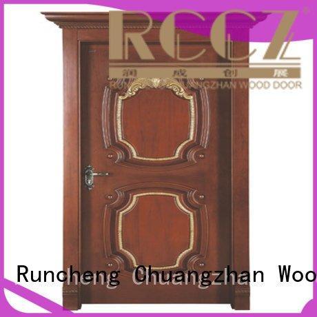 Runcheng Woodworking Brand sf005 s017 door interior wooden door with solid wood d015