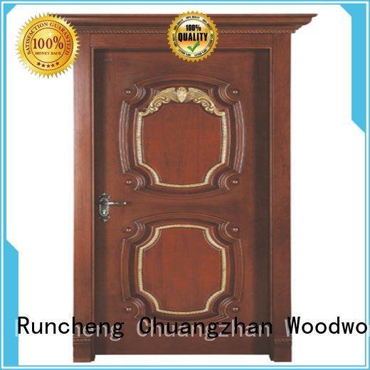 Hot interior wooden door with solid wood door Runcheng Woodworking Brand