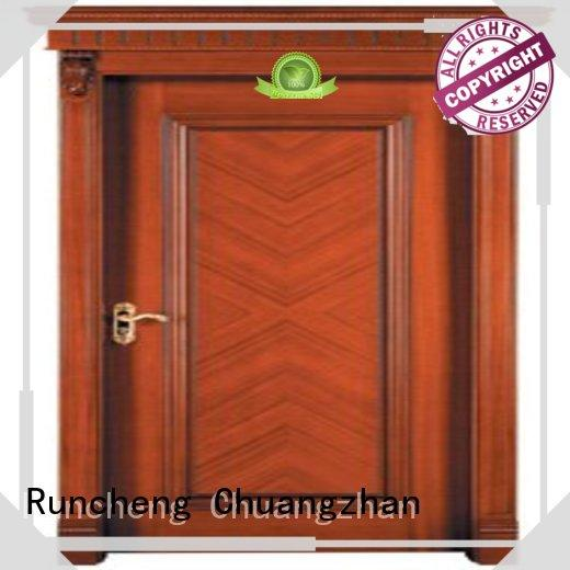 Runcheng Chuangzhan door wood grain steel door wholesale for hotels