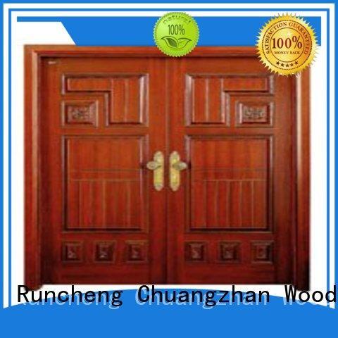 Runcheng Chuangzhan durability double door design in wood series for indoor