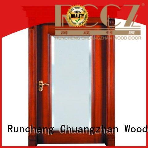 Runcheng Chuangzhan high-grade wood veneer door factory for offices