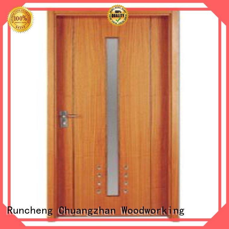 Runcheng Chuangzhan modern solid wood flush door wholesale for indoor