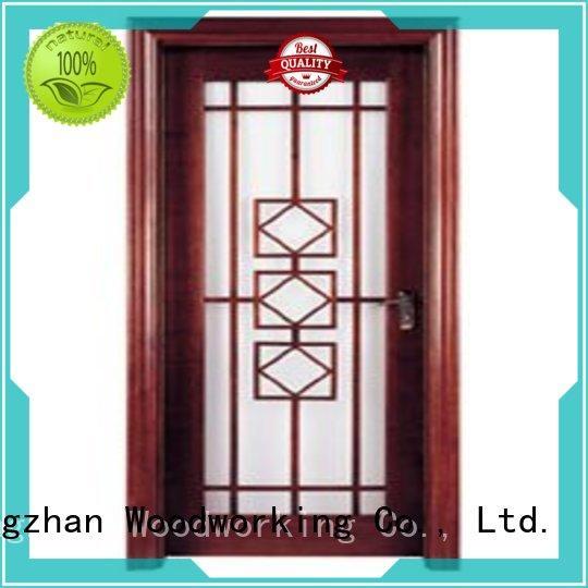 Runcheng Woodworking Brand glazed durable hardwood glazed internal doors