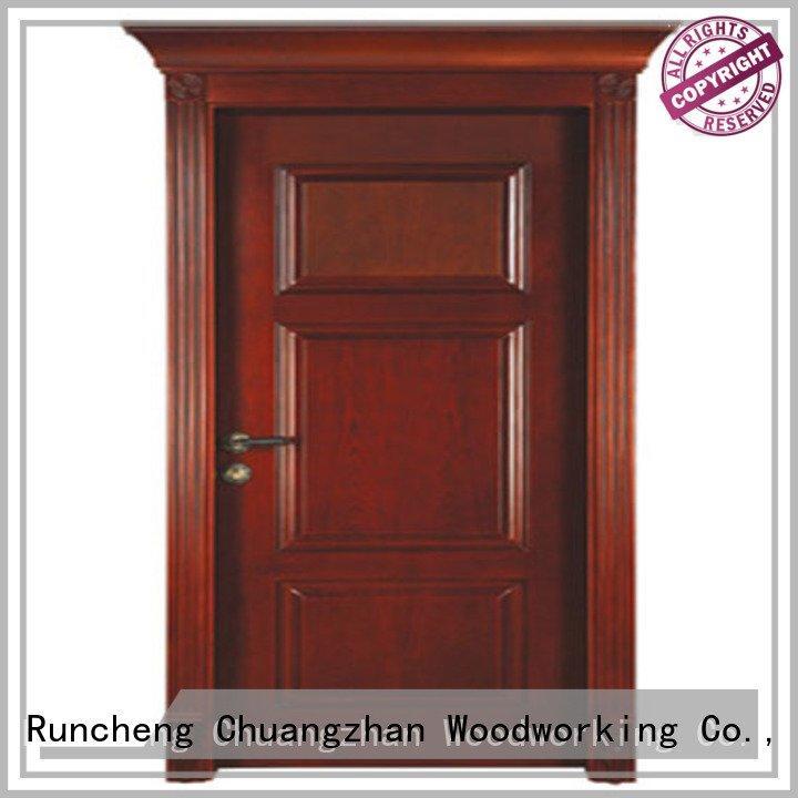 Hot solid wood bedroom composite door classic solid wood compound door kitchen Runcheng Woodworking