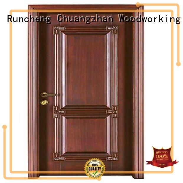 Runcheng Woodworking Brand wooden door cheap wooden front doors durable