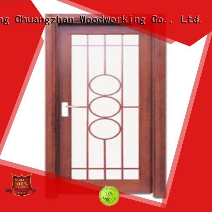 Runcheng Chuangzhan durability glazed wood door Supply for indoor
