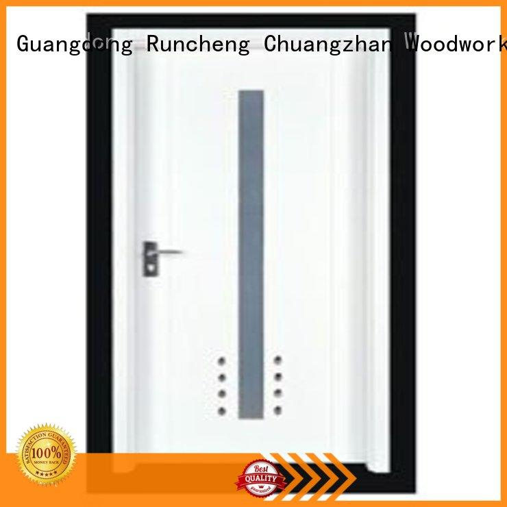 Runcheng Chuangzhan exquisite pine wood flush door manufacturer wholesale for offices