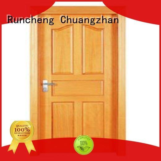 wooden flush door price list popular for hotels Runcheng Chuangzhan