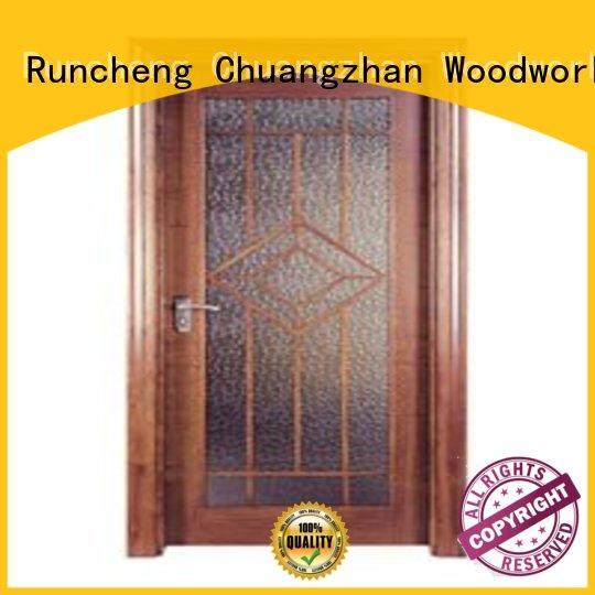 Runcheng Chuangzhan high-quality pine wood flush door manufacturer series for offices
