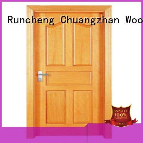 flush mdf interior wooden door door flush OEM wooden flush door Runcheng Woodworking