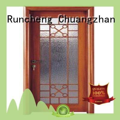 Runcheng Chuangzhan high-grade internal glazed double doors manufacturer for hotels