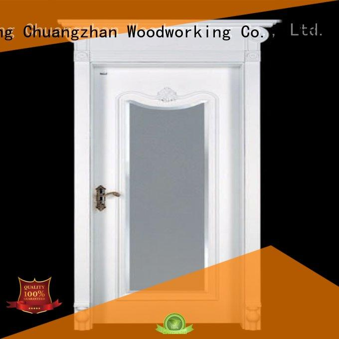 internal white mdf composited wooden door mediterranean sunshine Runcheng Woodworking Brand mdf composite wooden door