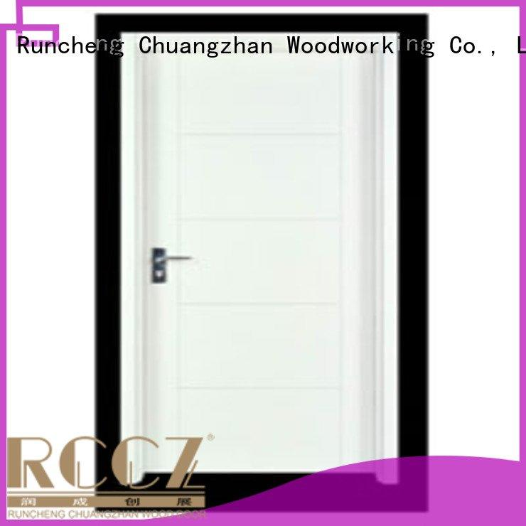 door flush flush mdf interior wooden door Runcheng Woodworking