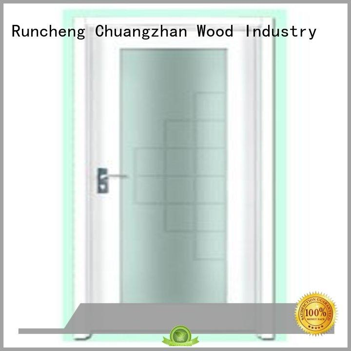 Runcheng Chuangzhan exquisite flush solid core wood interior doors design for indoor