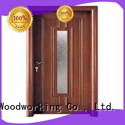Custom door glazed wooden double glazed doors Runcheng Woodworking durable