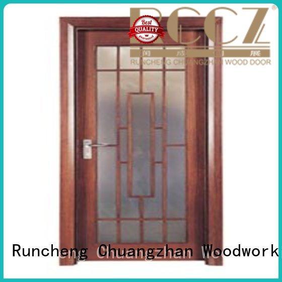 attractive glazed wood door door supplier for hotels