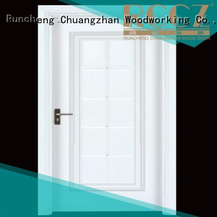 cheap wooden front doors wooden d024 OEM interior wooden door with solid wood Runcheng Woodworking
